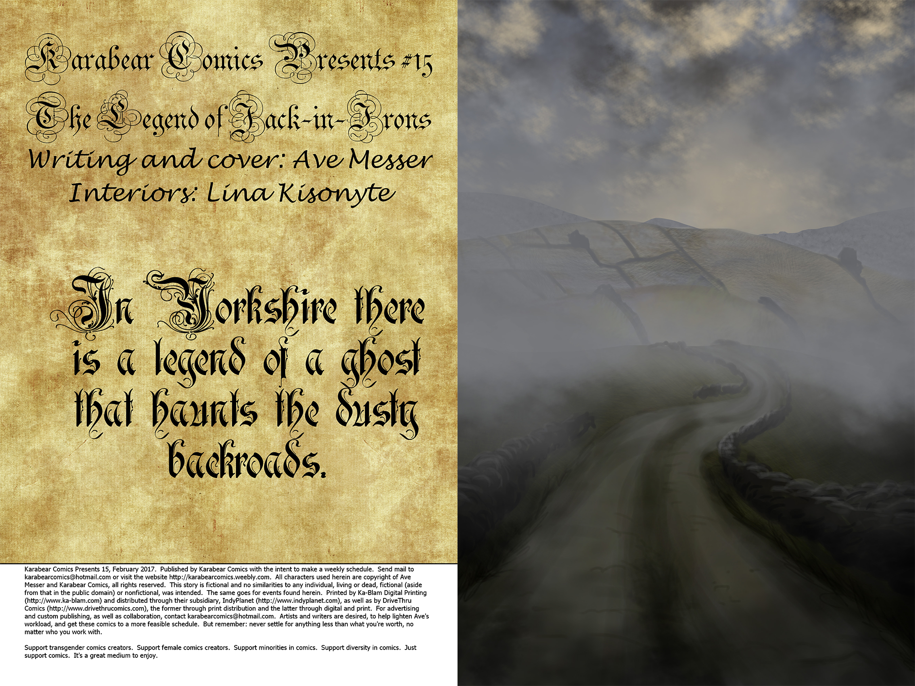 Issue 15: The Legend of Jack-in-Irons - Inside cover and page 1