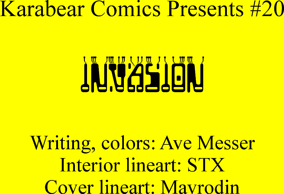 Issue 20: Invasion - Inside cover