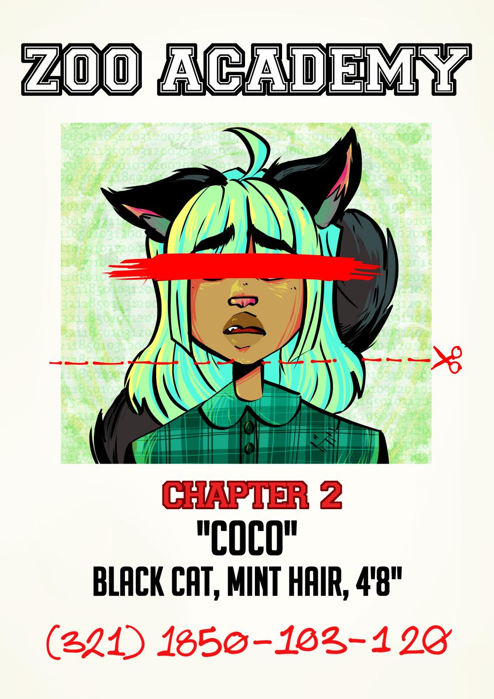"""Ch 2: Black Cat, Mint Hair, 4'8"""""""
