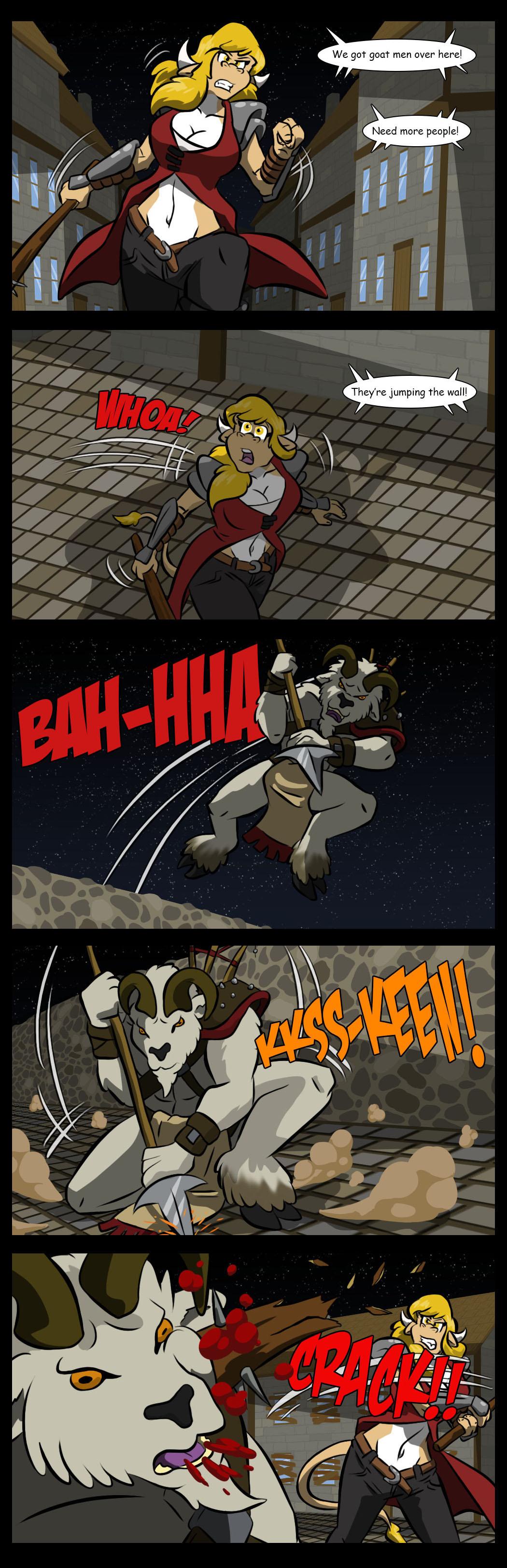 The goat men attack