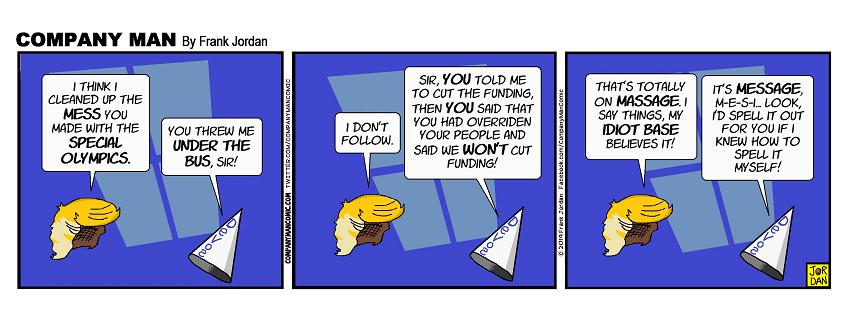 @realdonaldtrump + @betsydevosed + idiot #trumpsupporters = today's #ComicStrip! 3/29/19