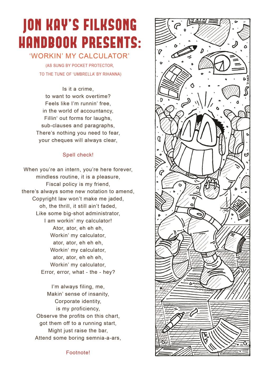 Filksong fiesta: Pocket Protector sings 'Calculator' (1 of 2)