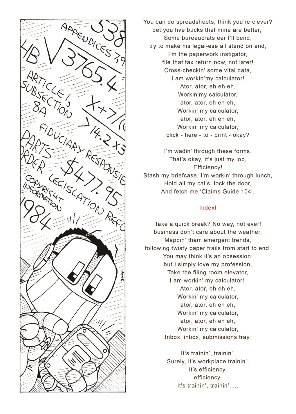 Filksong fiesta: Pocket Protector sings 'Calculator' (2 of 2)
