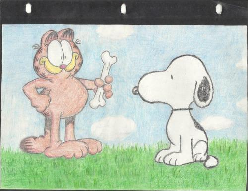 Snoopy meets Garfield