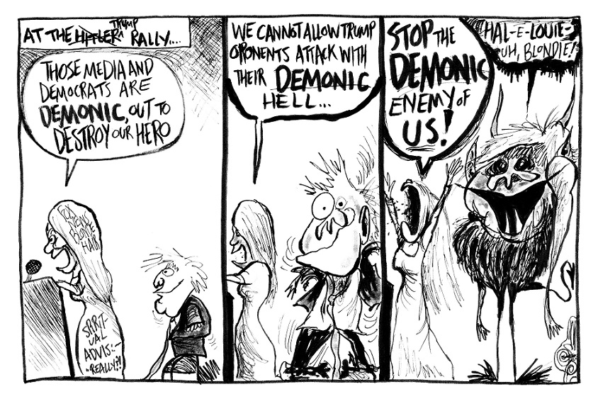 """A Blonde Woman Really Did Say """"Demonic"""" There ...Really!"""