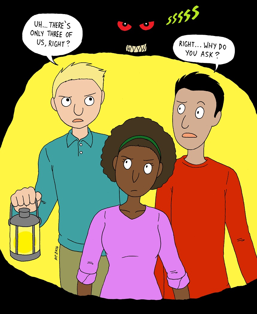 Peter, Kanny, Tarik and an Unspecified Cryptid (by MST3KFan)