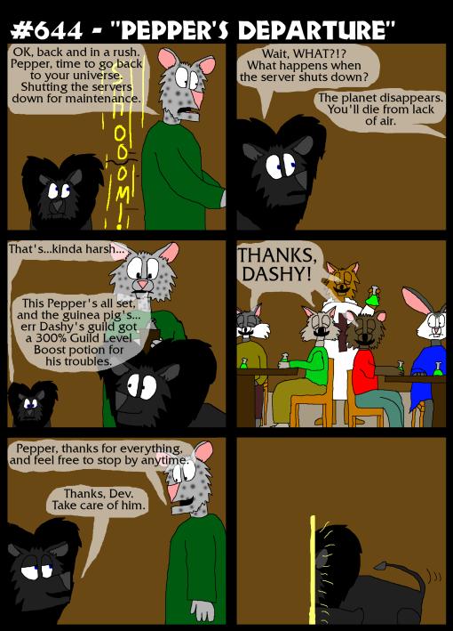 "#644 - ""Pepper's Departure"""