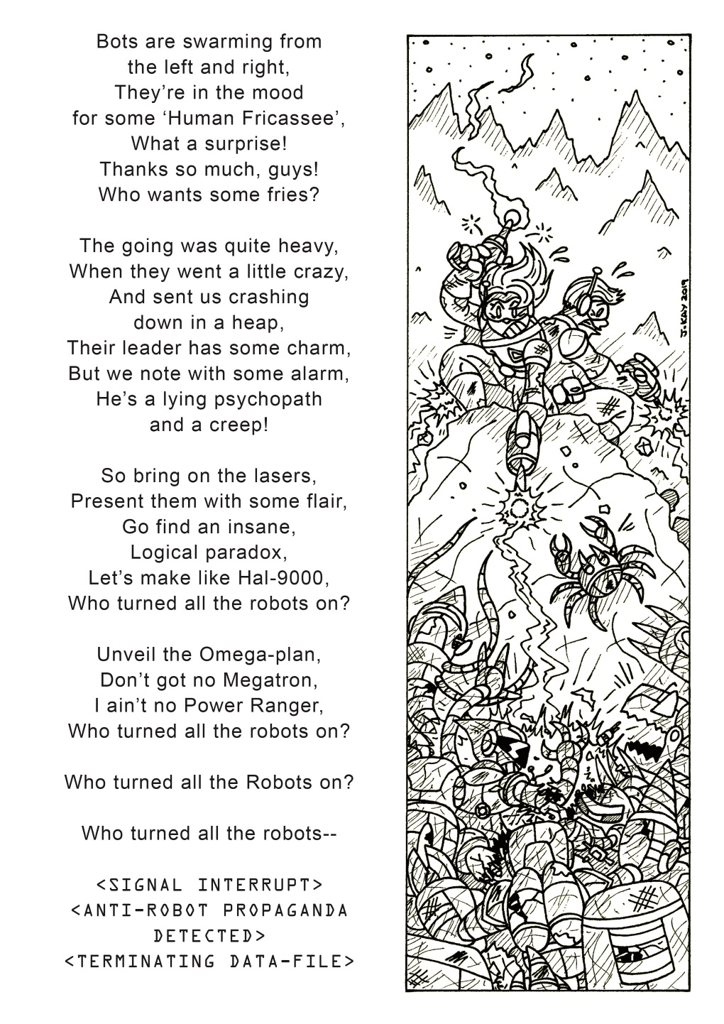 Filksong fiesta: 'Who turned all the robots on?' (2 of 2)