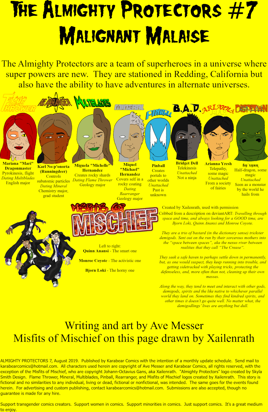 Issue 7: Malignant Malaise - Inside cover