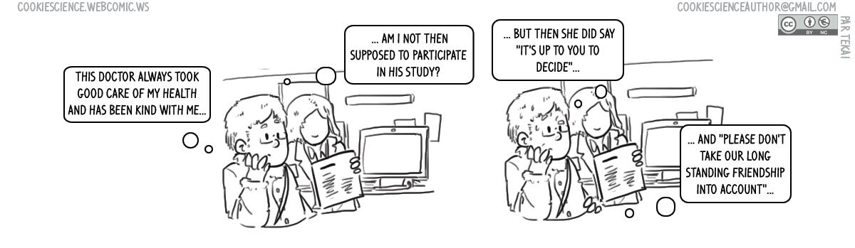 1038 - Participant coercion (unvoluntary)