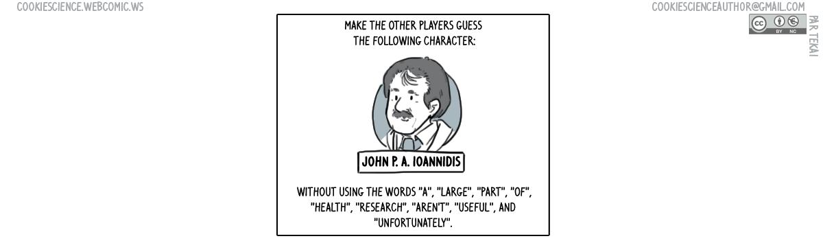 875 - John PA Ioannidis Research waste Taboo card
