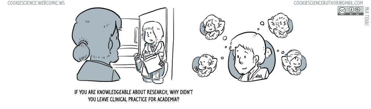857 - Academia clinical practice false dichotomy