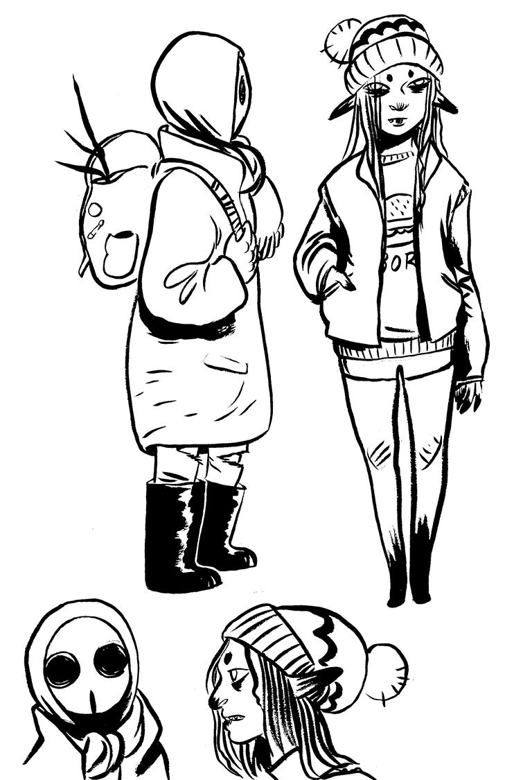 concept art: costume change