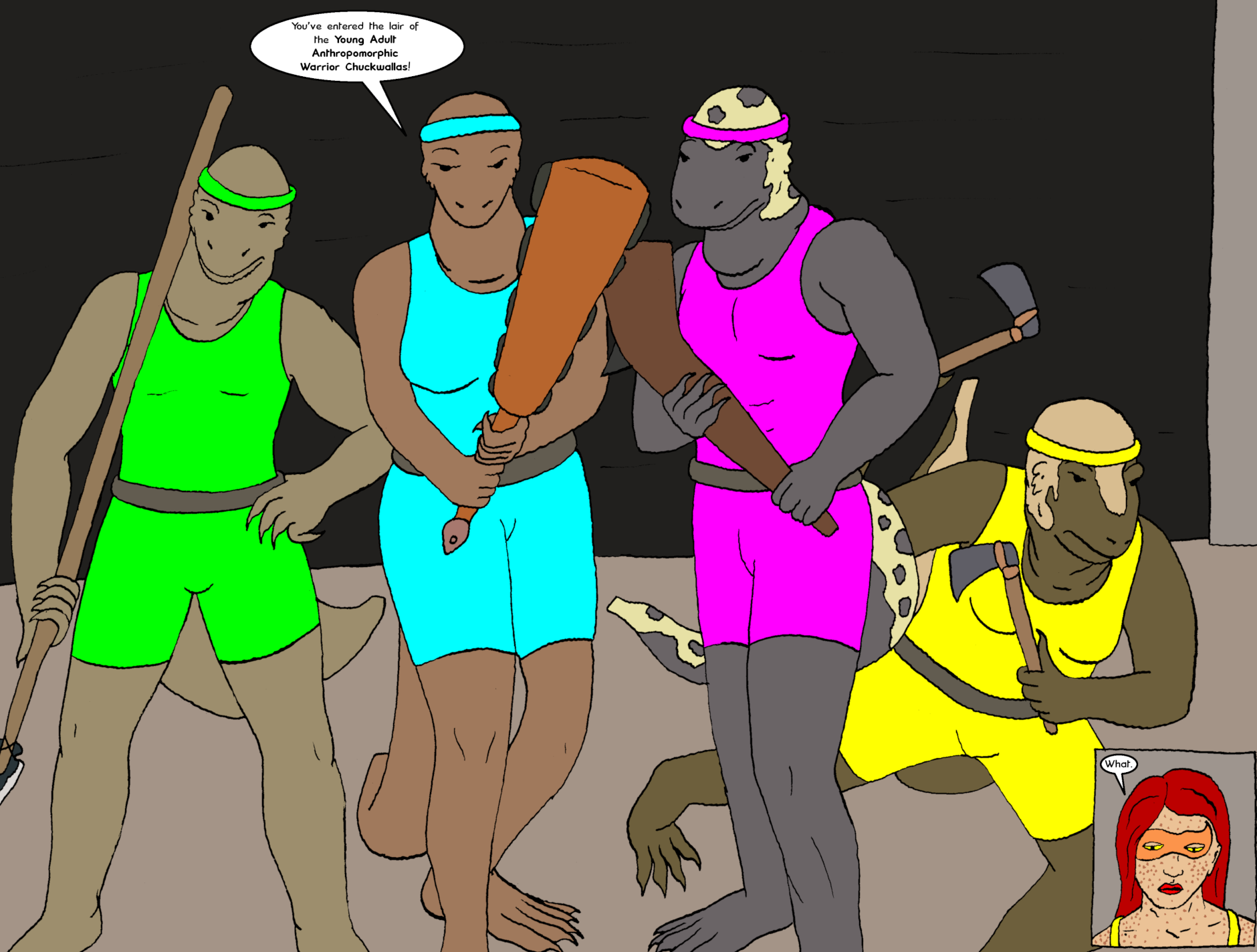 Issue 8: Young Adult Anthropomorphic Warrior Chuckwallas - Pages 4-5