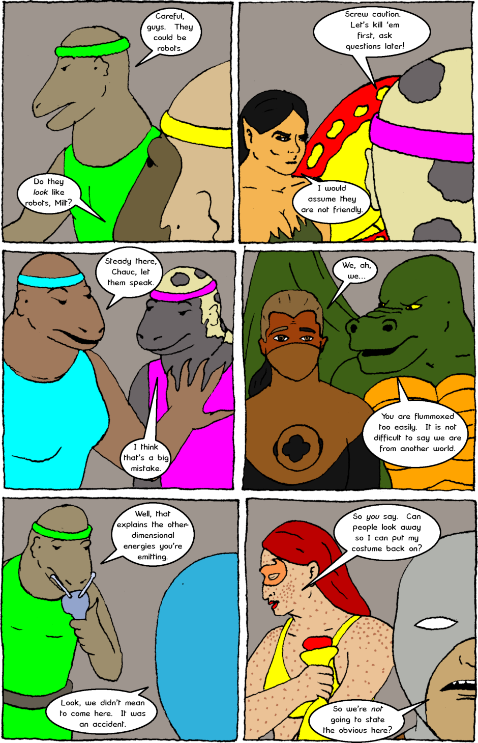 Issue 8: Young Adult Anthropomorphic Warrior Chuckwallas - Page 6