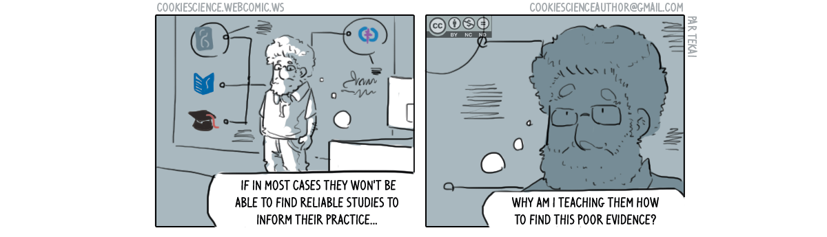 820 - Why are you teaching people to find poor evidence?