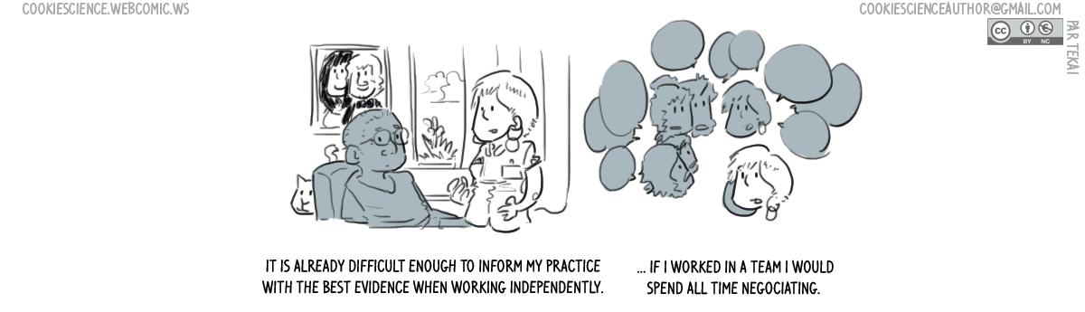 707 - I work alone to work evidence-based