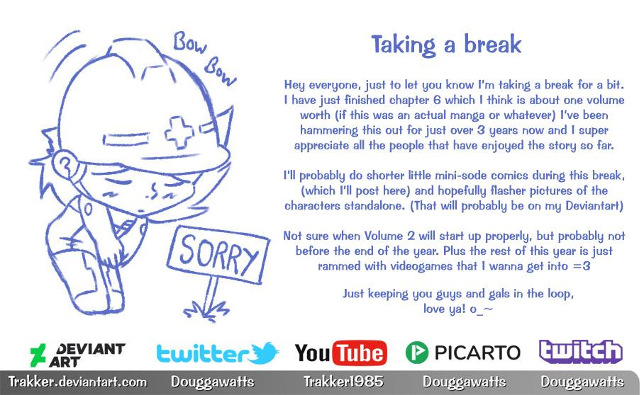 volume end - taking a break =3
