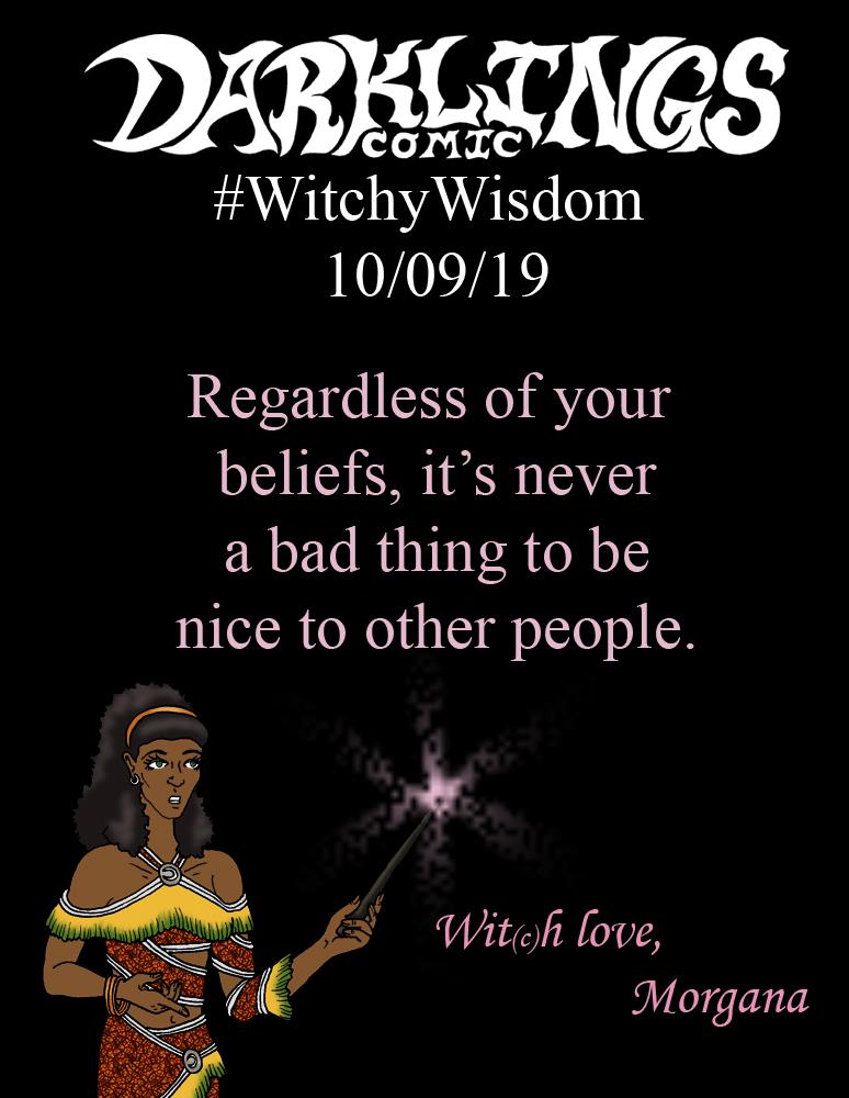 #WithcyWisdom 10/09/19