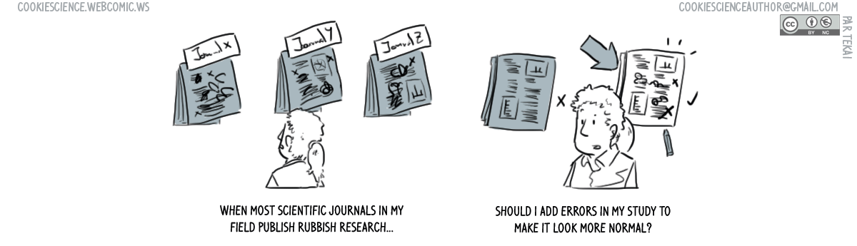 675 - Make it look rubbish to publish in rubbish journals?