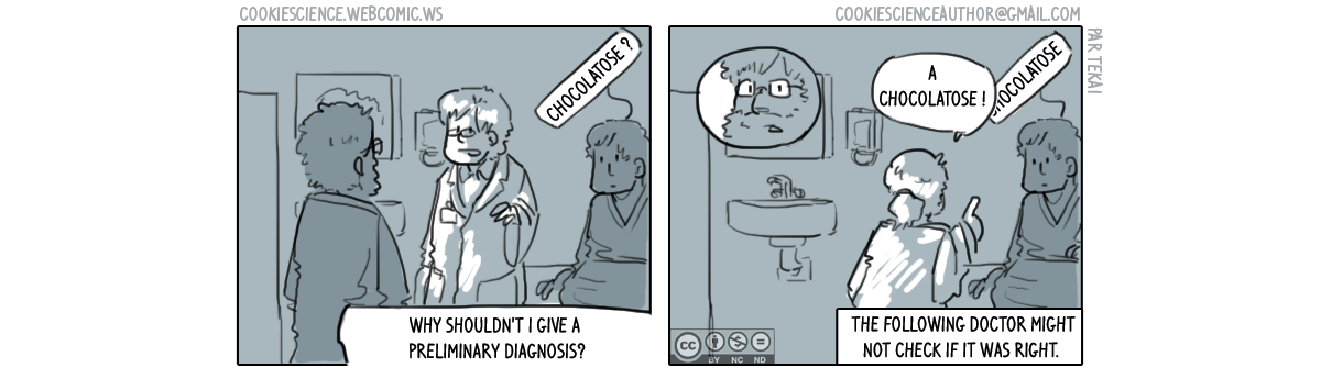 556 - A preliminary diagnosis stayed for years