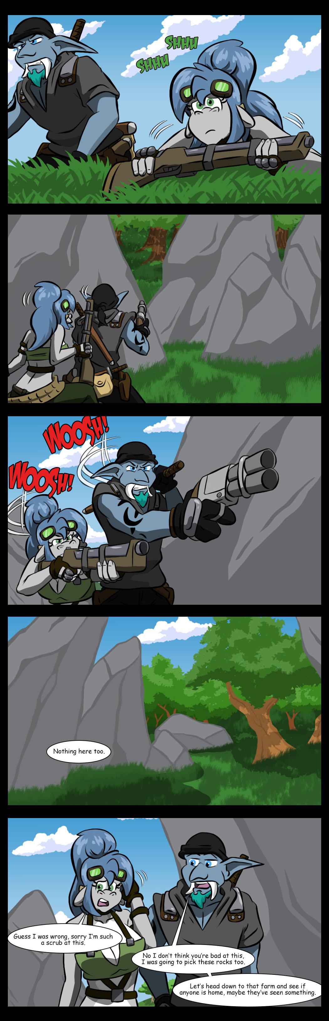 Breaching rocks