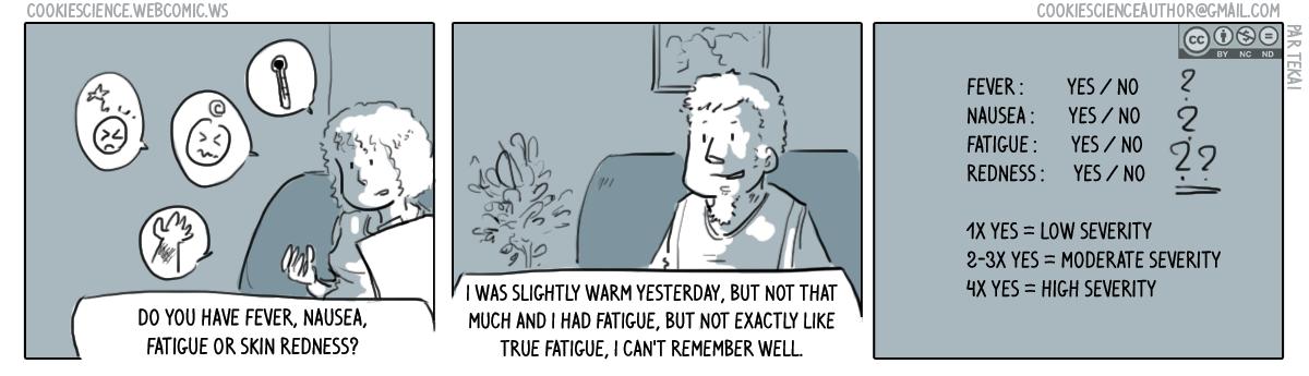 469 - Subjective symptom descriptions