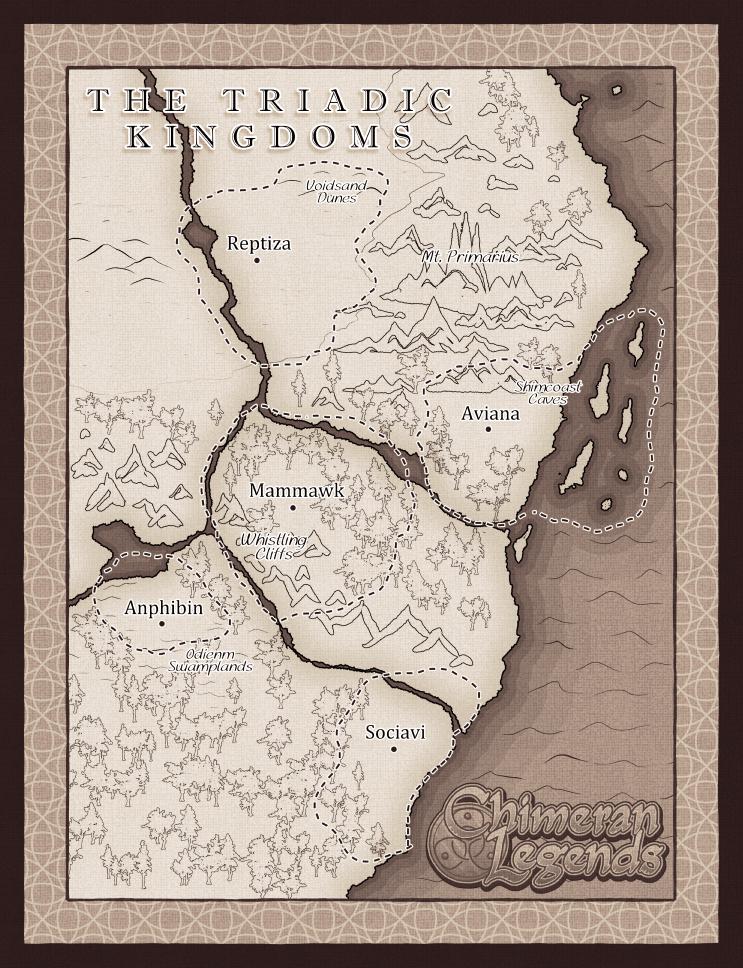 Map of the Triadic Kingdoms