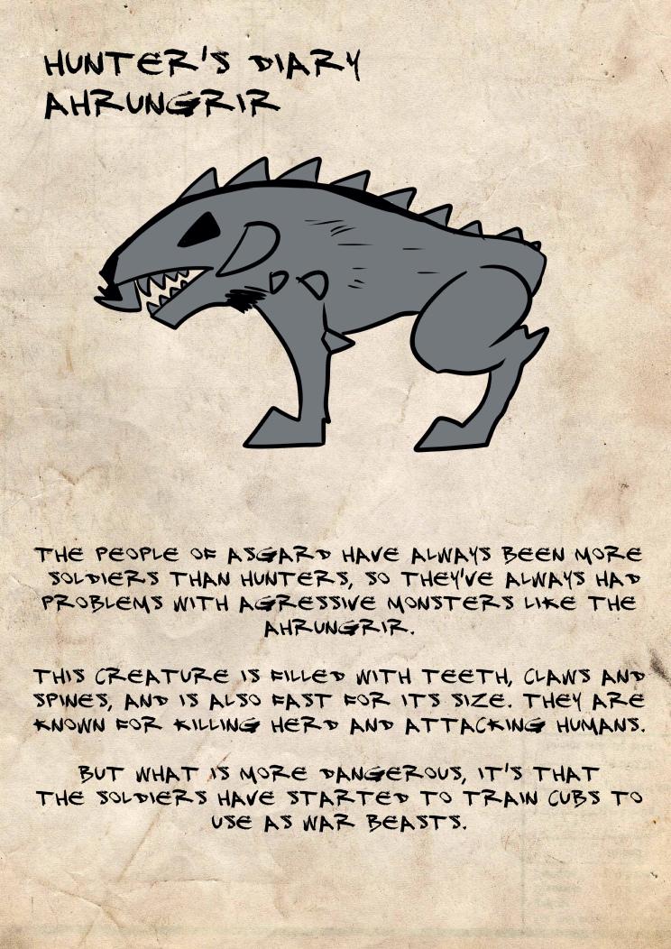 Hunter's diary Ahrungrir