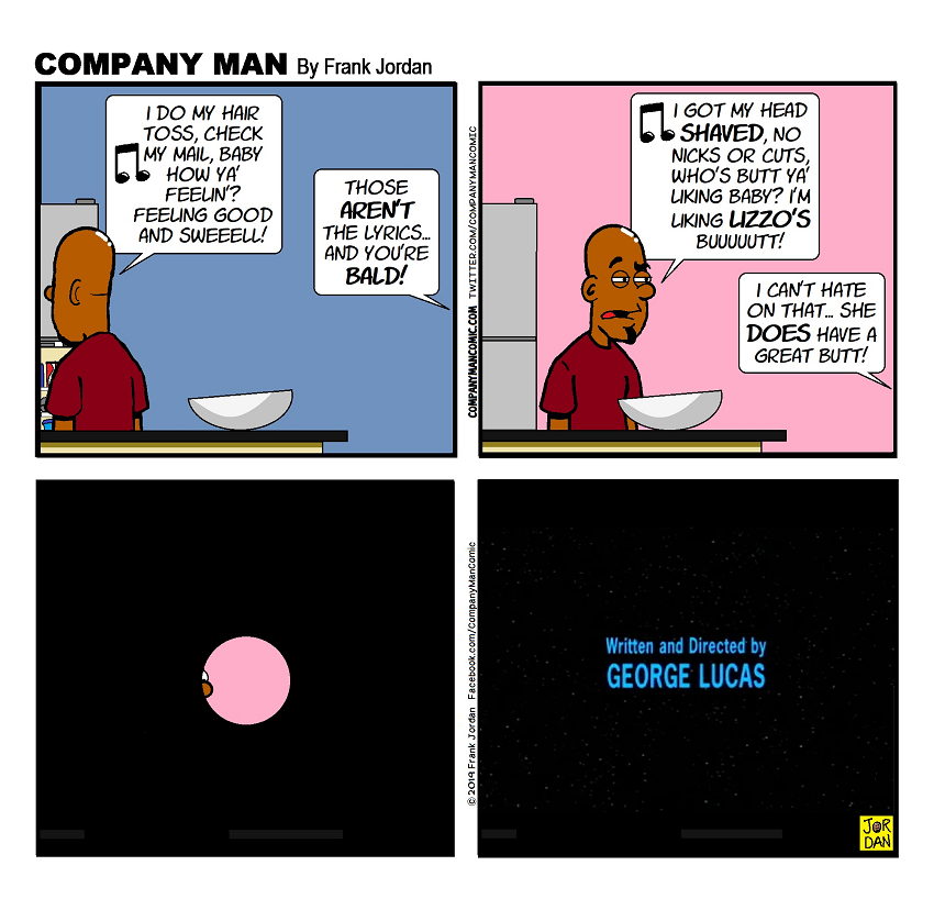 It's a great way to end a comic strip as well!