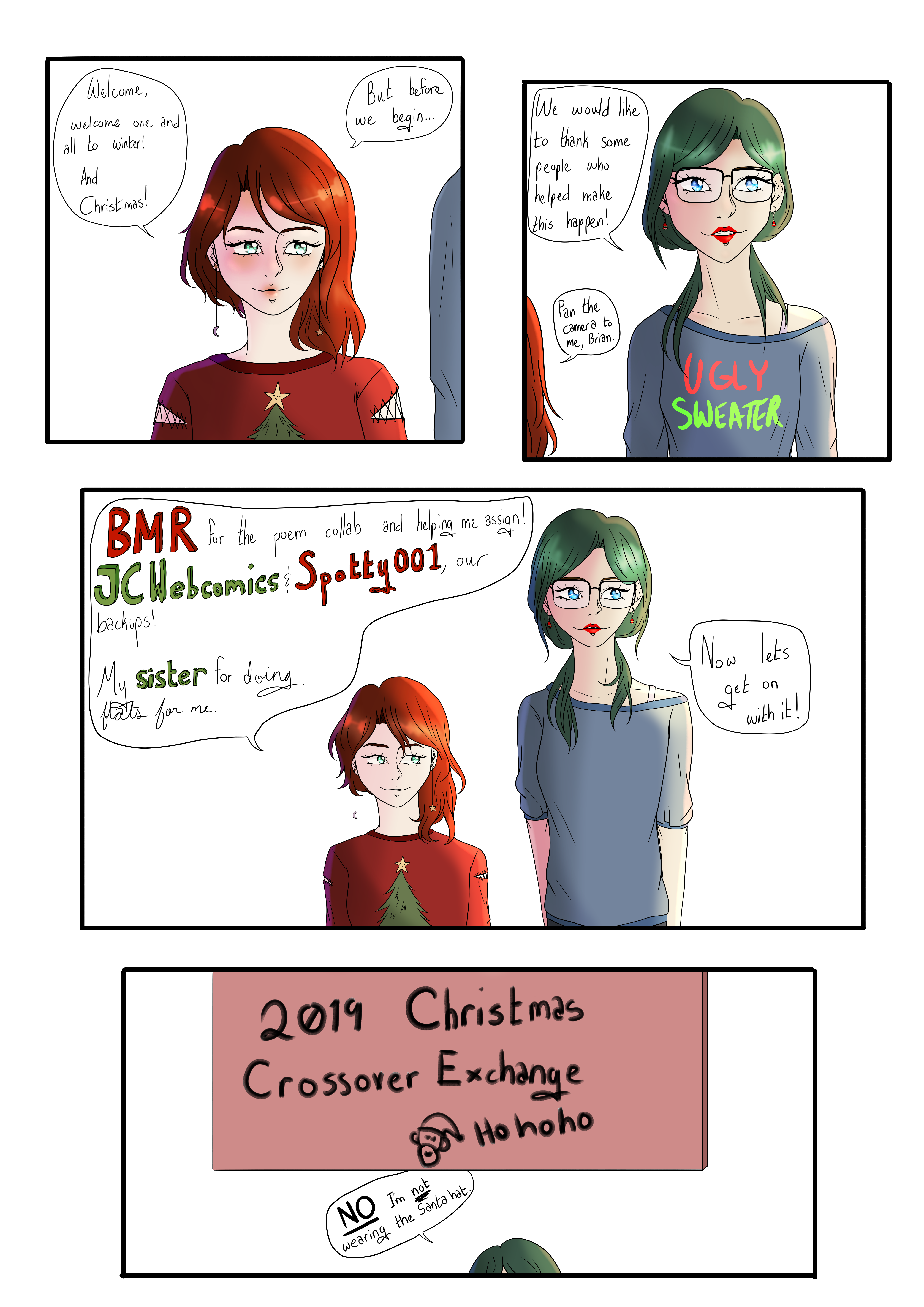 Christmas Crossover Exchange 2019 | She's Not Wearing The Santa Hat