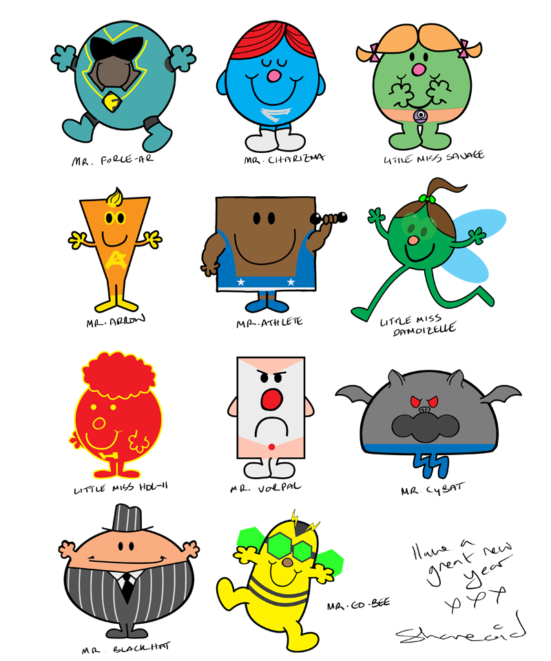 Mr. Men of the World and Beyond