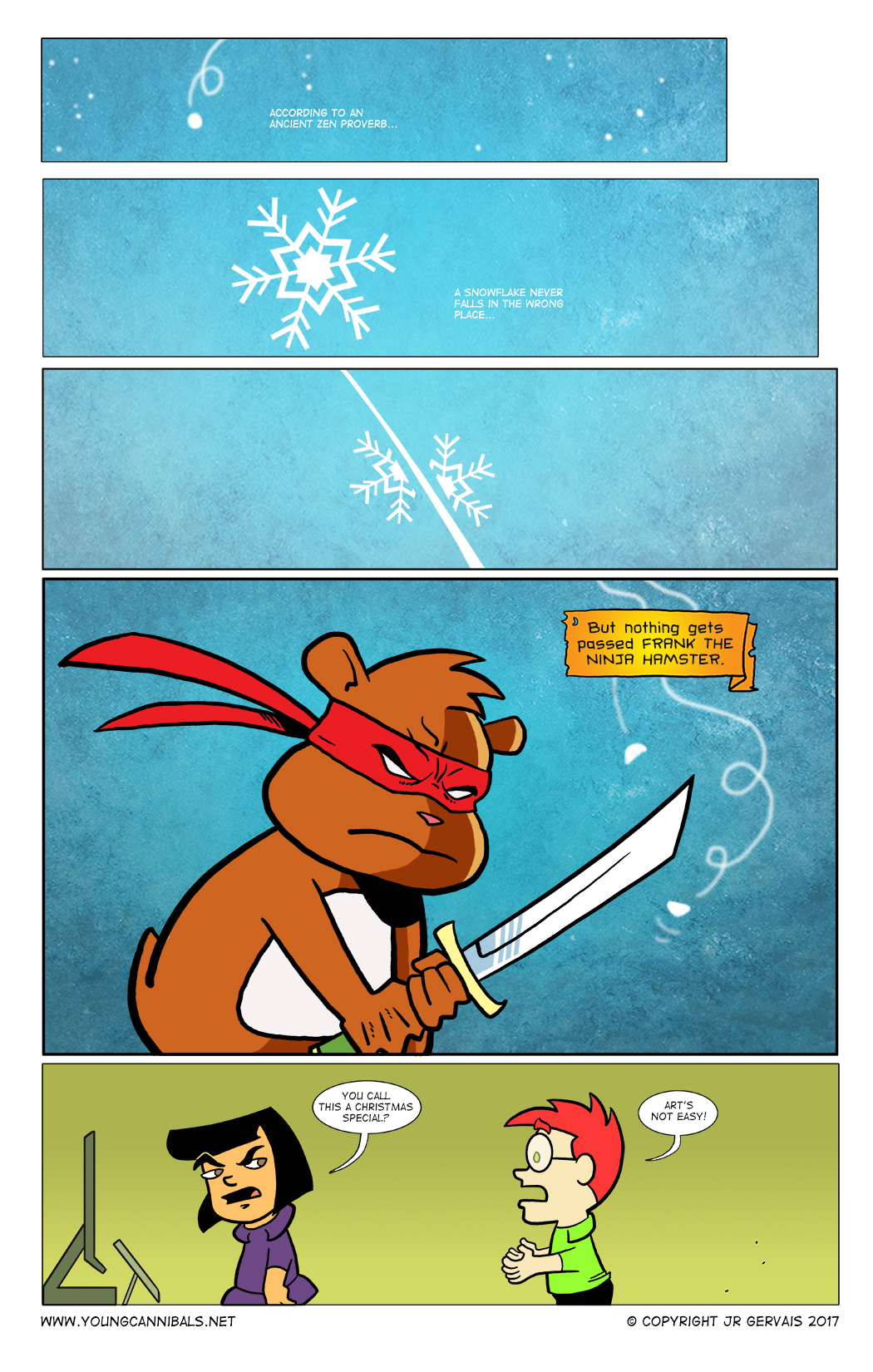 A Frank the Ninja Hamster Christmas Special