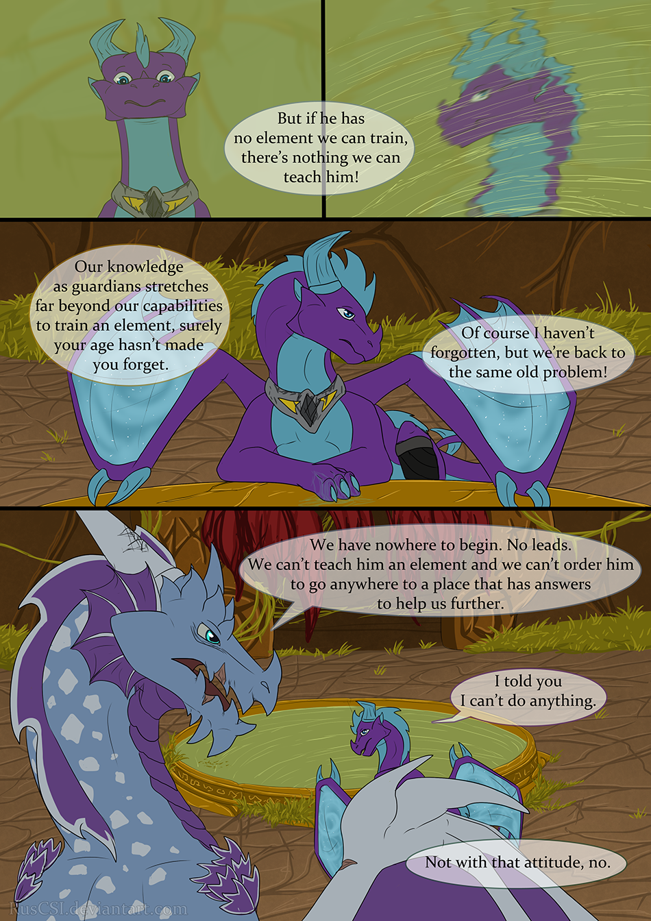 Courage of the cowardly dragon - page 10