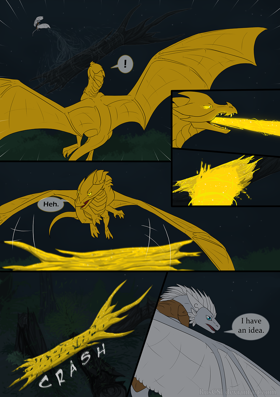 Courage of the cowardly dragon - page 40
