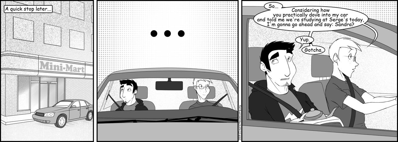 #208 Dove into the car.