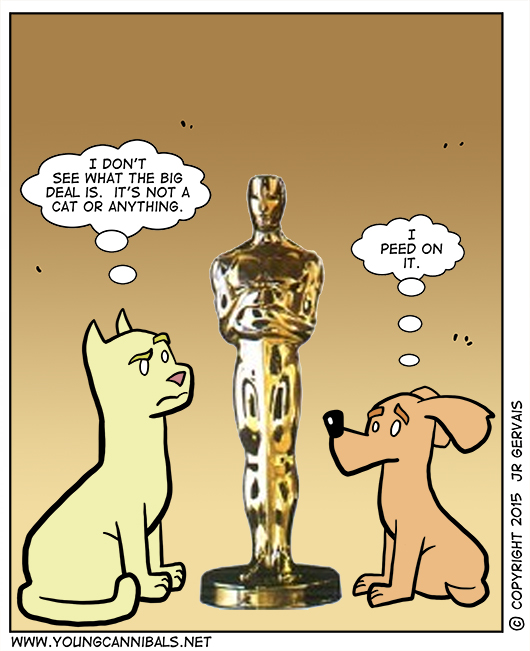 Backstage at the Oscars...