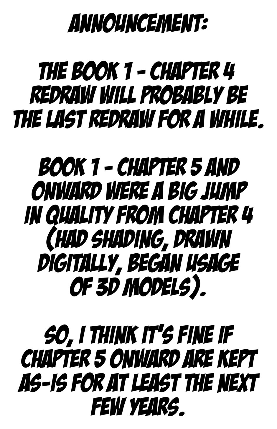 Final Redraw Announcement