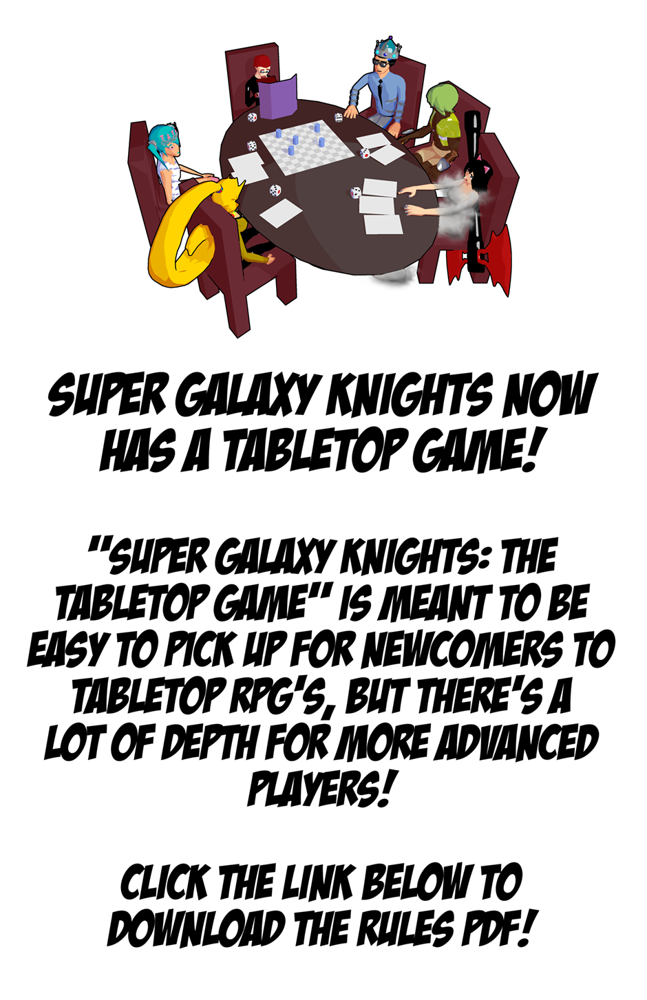Super Galaxy Knights: The Tabletop Game!