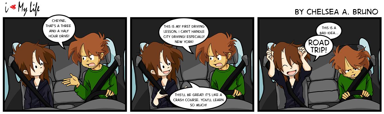 Comic 22: Driving Lesson 3