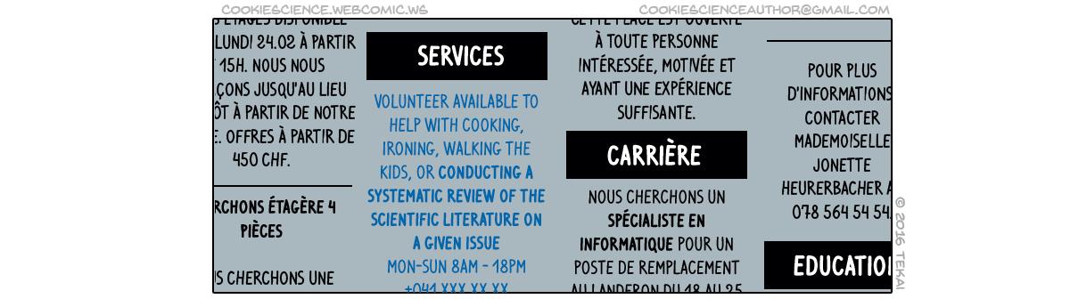 378 - Volunteering researcher