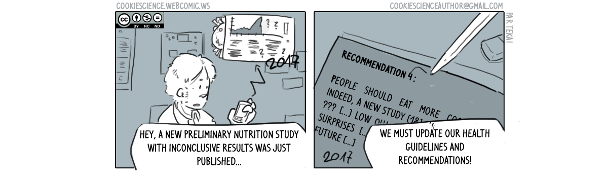 303 - Update guidelines and include the new poorly done study NOW!