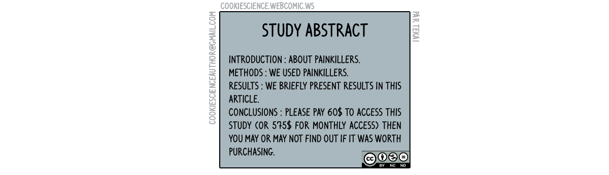 214 - Pay first, find out if the study is relevant afterwards