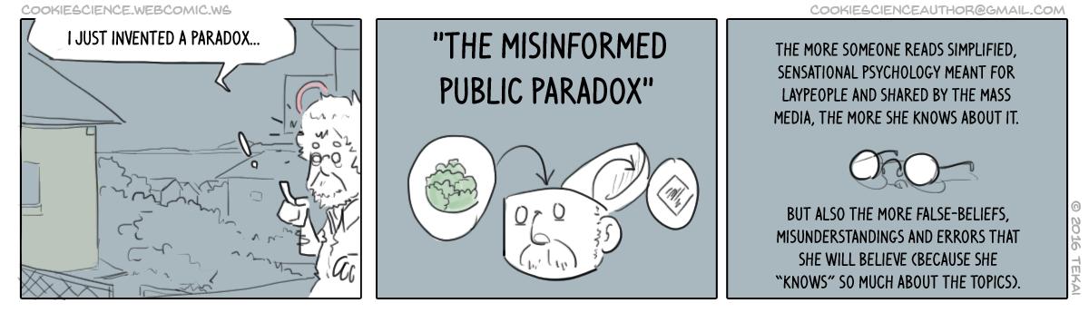 160 - Highly misinformed paradox