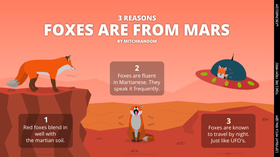 Foxes are from Mars