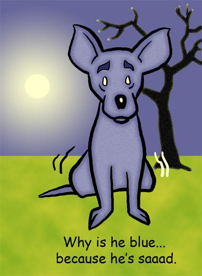 Mr Tinkle as Blue Dog