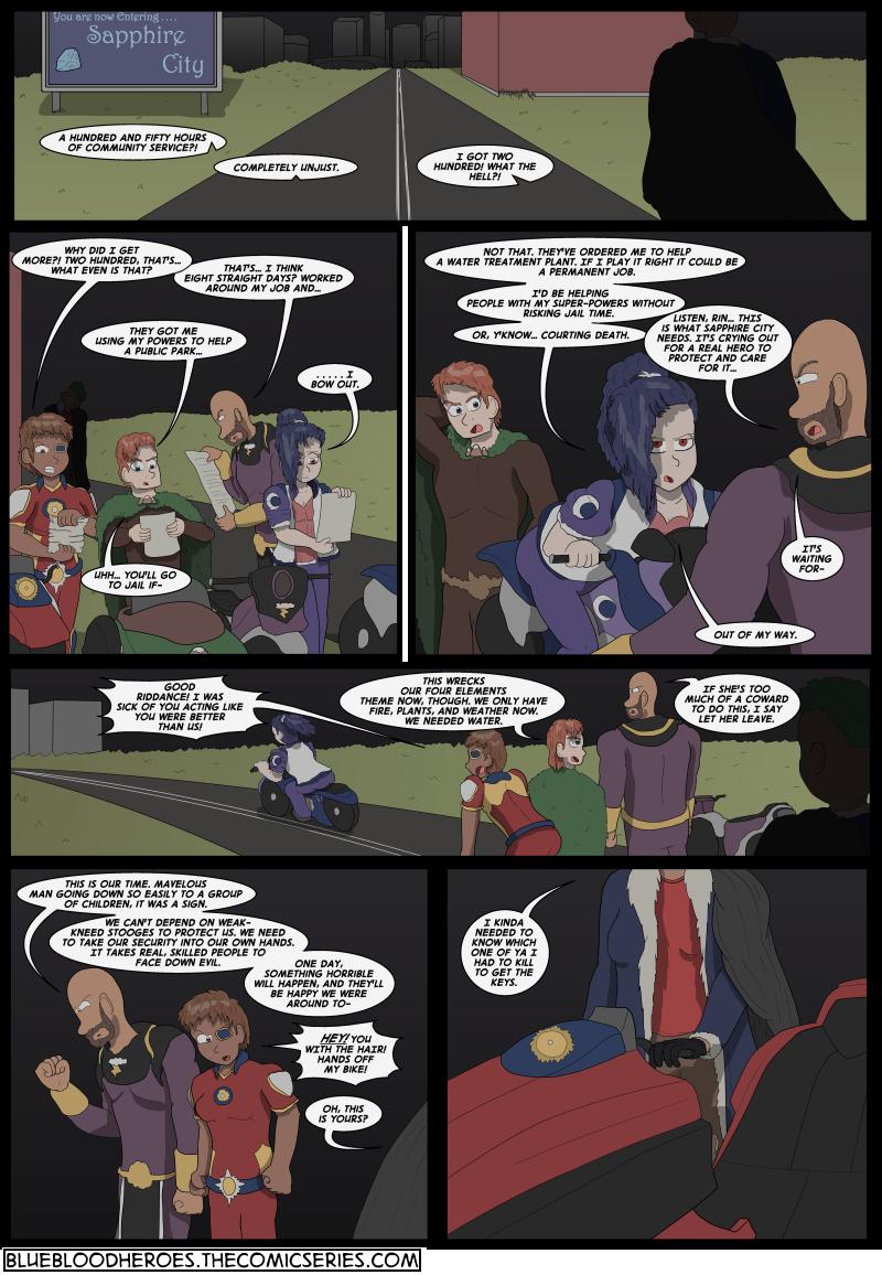 Blue Blazes, Page 1