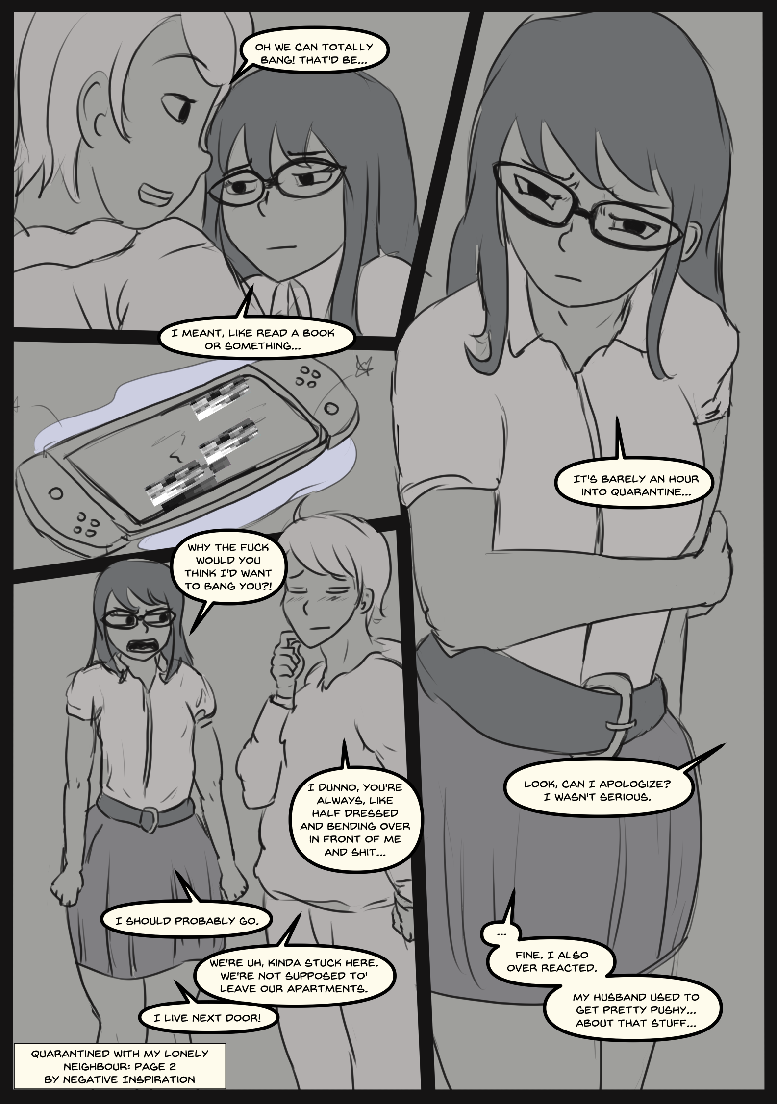 Quarantined with my Lonely Neighbour: Page 2