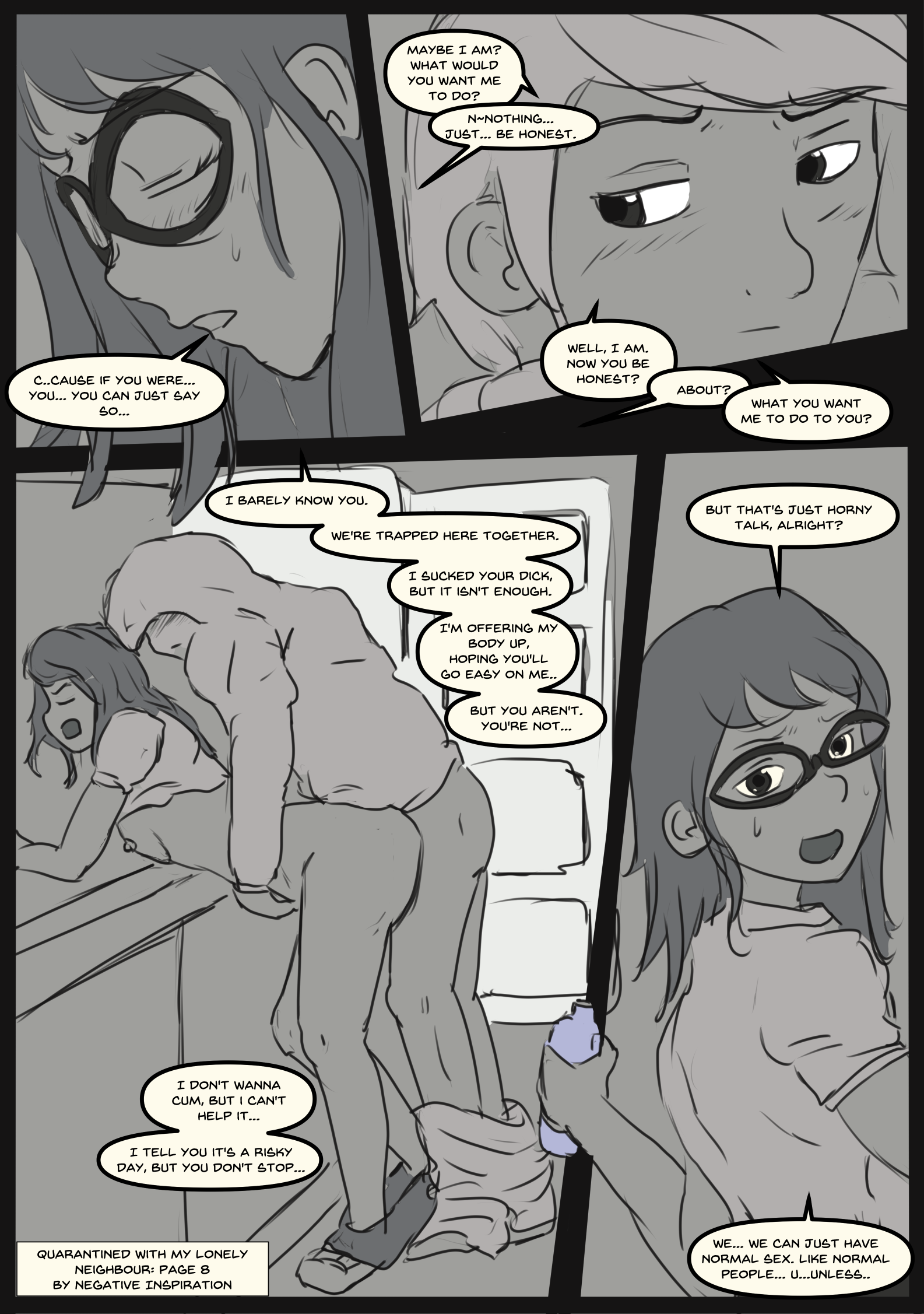 Quarantined with my Lonely Neighbour: Page 8