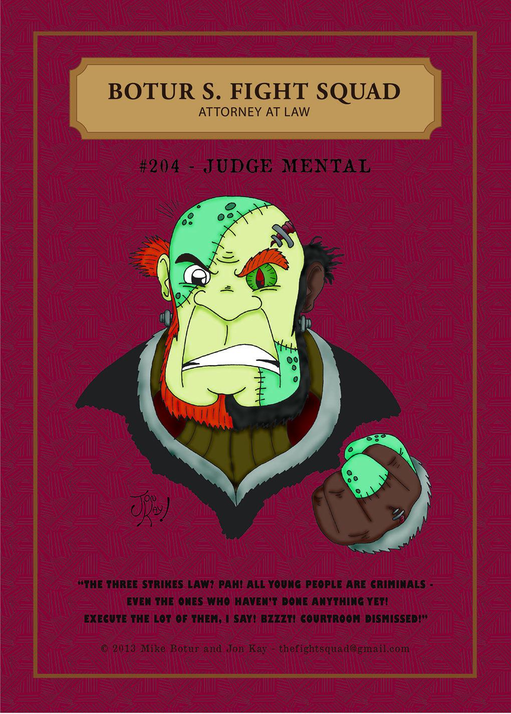 Character profile: Judge Mental